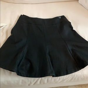 Express leather like mini skirt